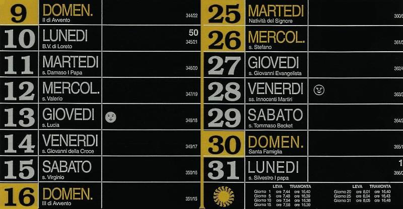 Calendario 2012 - Dicembre