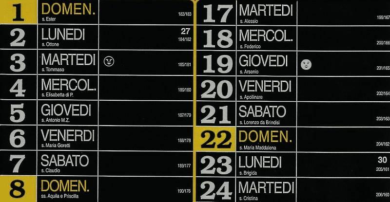 Calendario 2012 - Luglio