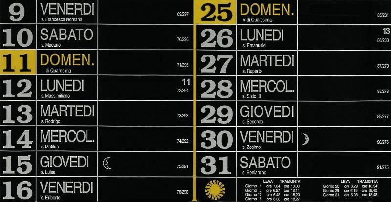 Calendario 2012 - Marzo
