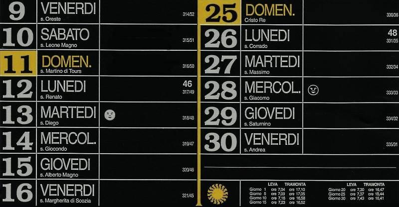 Calendario 2012 - Novembre